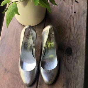 Jessica Simpson Silver Heels